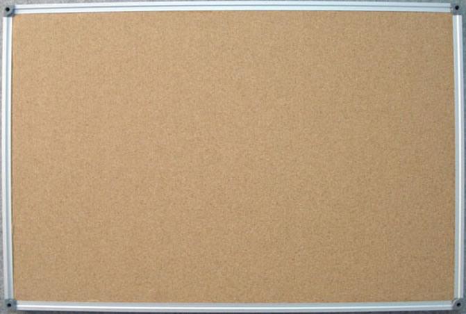 Aluminum Framed Corkboard Bulletin Board