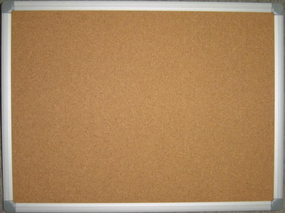 Aluminum Frame Cork Board Brown