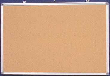 Natural Corkboard With Aluminum Frame