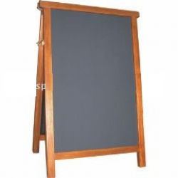 wooden chalkboard stand