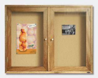 Double Doors Enclosed Bulletin Cabinet