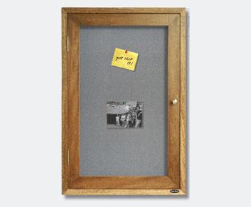 Single Door Enclosed Bulletin Cabinet