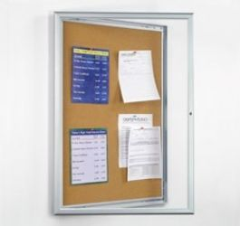 Lockable Bulletin Board