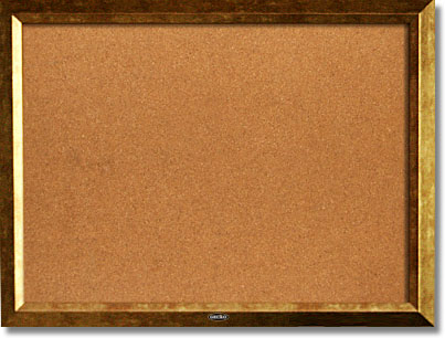 Cork Bulletin Boards With Golden PS Frame