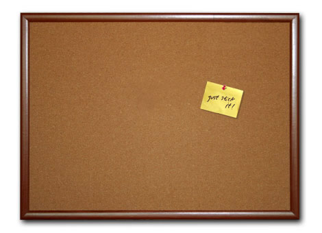 Cork Bulletin Boards With Wood Textured MDF Frame