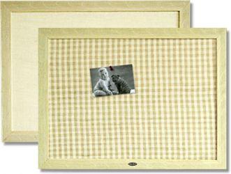 Natural Flax Fabric Bulletin Board